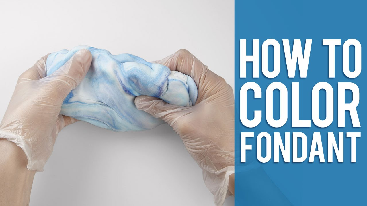 Learn How To Color Fondant 2 Easy Ways YouTube