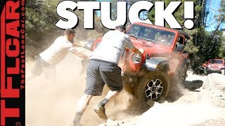 No Winch Needed! New 2.0L Jeep Wrangler Turbo vs Metal Crushing Rubicon Trail