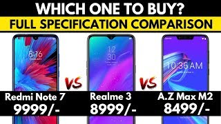 [HINDI]-Redmi Note 7 vs Realme 3 vs Asus Zenfone Max M2 | Quick Specification Comparison | 🤔