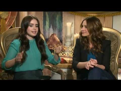 Lily Collins, Julia Roberts and Armie Hammer Interview for MIRROR MIRROR