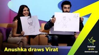 Anushka & Ranbir draw Virat - Guess who draws better!