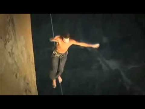 Dean Potter - Crazy tightrope walking, base jumping aerialist... Video