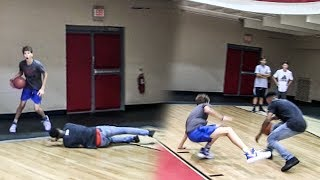 OMG 14-YEAR OLD WHITE KID MAKES HIM FALL!! HE BREAKS HIS ANKLES RIGHT AFTER! INSANE 1V1!