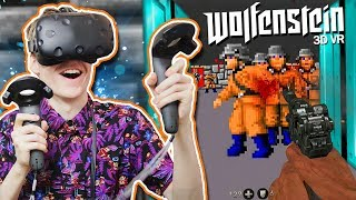 WOLFENSTEIN IN VIRTUAL REALITY! | Wolfenstein 3D VR (HTC Vive + Proximat Gameplay)