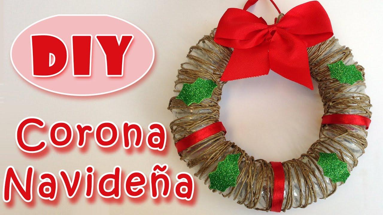 Manualidades de navidad corona de navidad de cuerda - Coronas navidenas faciles ...