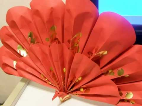 how to make a decorative flower ball using ang pow paper red packet