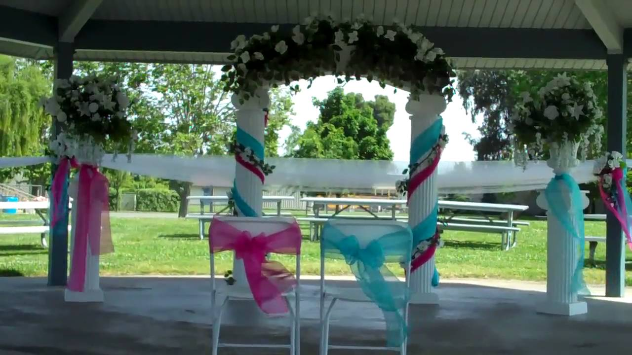 Decoracion para boda en hot pink y turquoise youtube - Decoracion de pared ...