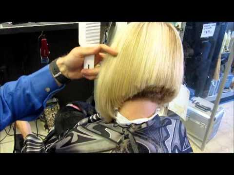 SURPRISE Clipper Graduated Bob Haircut Video - YouTube