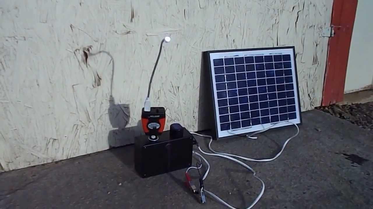 Solar Cellphone Charger Mobile Phone 10 Watt 5 Amp 12