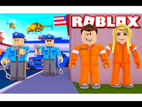 الهروب من السجن  فى لعبة roblox !! 🔥🚔