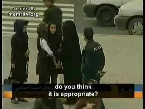 Iranian Police Enforce Islamic Dress Code on Women