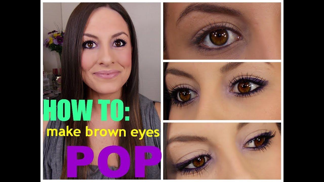 Cómo hacer Ojos marrones Pop