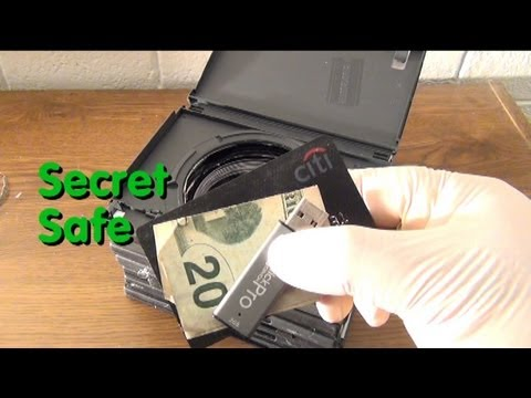 How To Make a Secret Safe with DVD cases