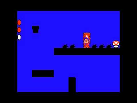 Super Mario Bros 2 - Nintendo NES - second mushroom on World 7-1 - User video