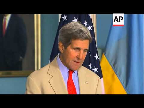 Secretary of State John Kerry said Tuesday the U.S. and the E.U. are poised to slap new sanctions on