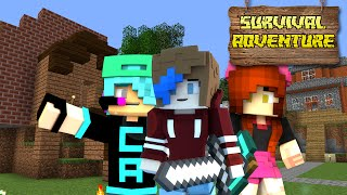 Download Lagu MINECRAFT SURVIVAL ADVENTURE EP16 | HOW TO HOTEL BUILD | CHAD, DOLLASTIC & AUDREY Gratis STAFABAND