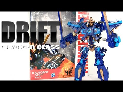 Age of Extinction Voyager Class Drift Transformers robot figure review