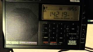 Swl on 14mhz heard ec5ea tecsun pl-600