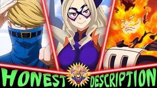 Every Pro Hero in My Hero Academia - Honest Anime Descriptions (No MHA Manga Spoilers)