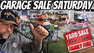 Family Yard Sale Hunting