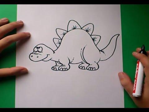 Como dibujar un dinosaurio paso a paso 5 | How to draw a dinosaur 5