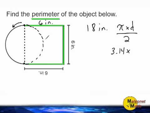 Finding The Perimeter Of A Semi Circle Attached To A