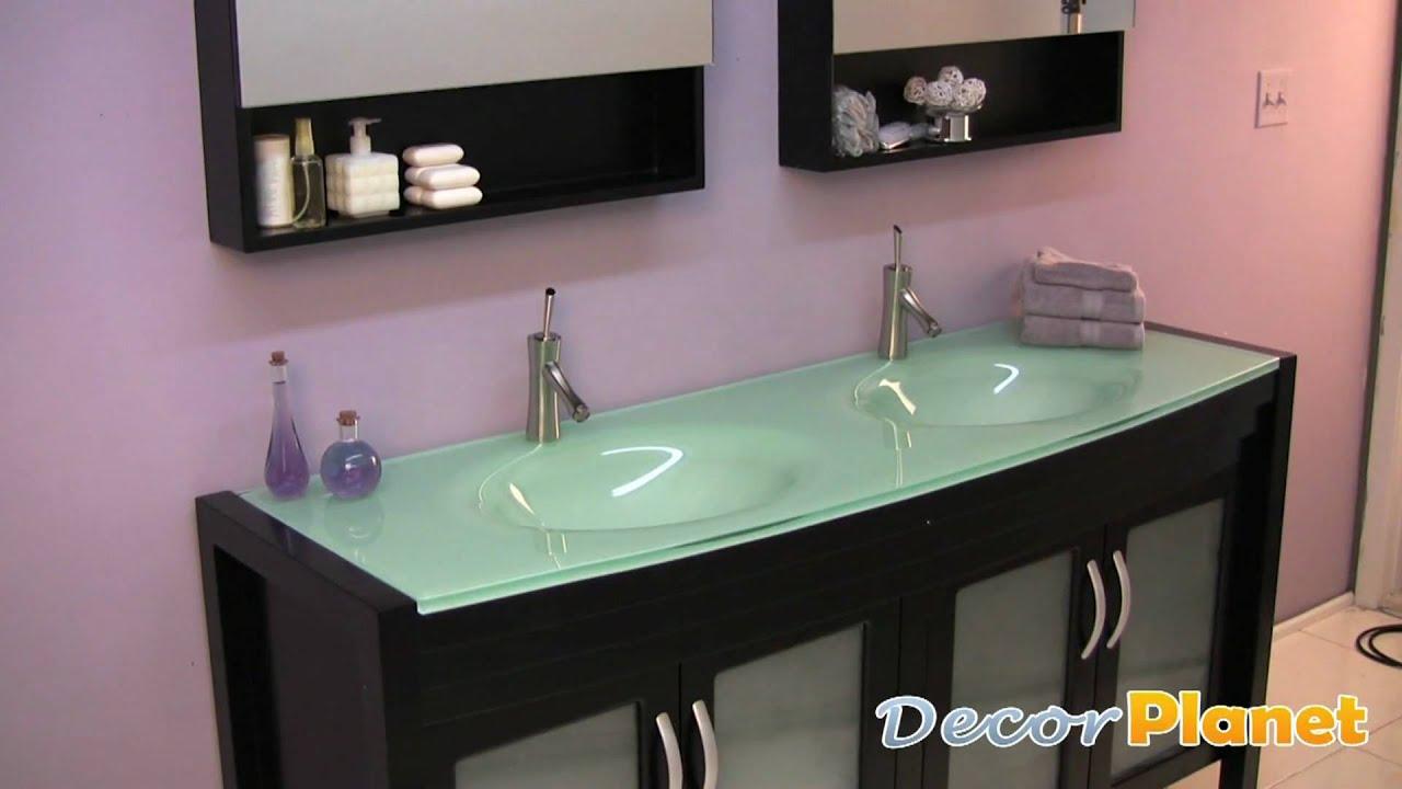 Infinito double sink bathroom vanity modern vanities for Decorplanet bathroom vanities