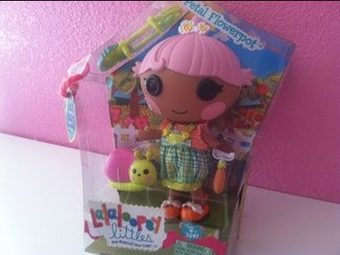 Lalaloopsy little petal flowerpot unboxing review