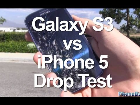 iPhone 5 vs Samsung Galaxy S3 Drop Test