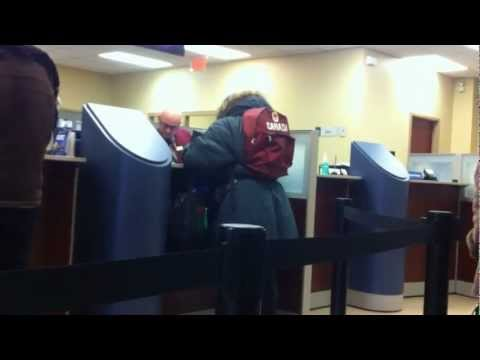 Woman Full With Talent Of Pissing Other People Off!!  Bank video