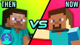 The Evolution of Minecraft - Then vs Now | The Leaderboard