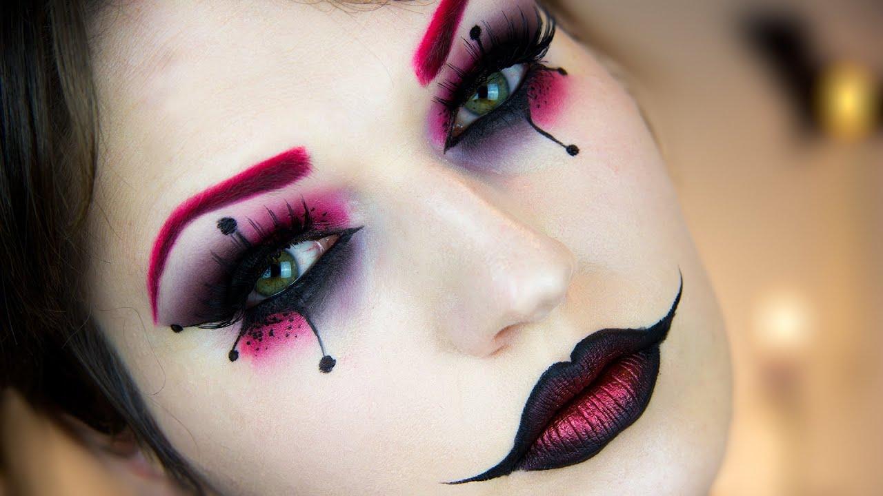 Harley Quinn Halloween Makeup Tutorial  YouTube - Tutorial Makeup Halloween