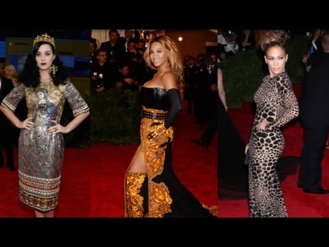 Beyonce vs. Katy Perry vs. JLO - Pop Stars at Met Ball 2013!