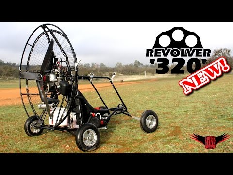 BlackHawk REVOLVER 320 Paramotor Review & Demo! NEW 2015 44hp Powered Paraglider!