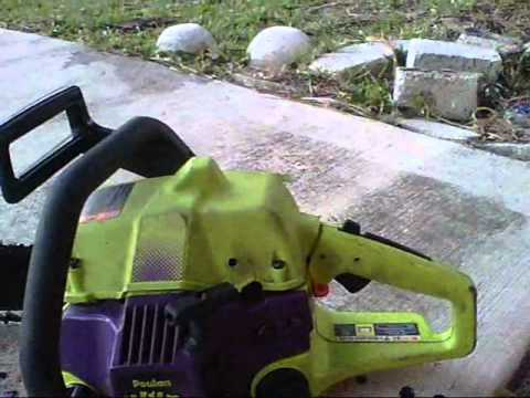 Tuning the carburetor on The Poulan Wild Thing Chainsaw