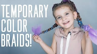 Temporary Color Braids! | Great for kids!