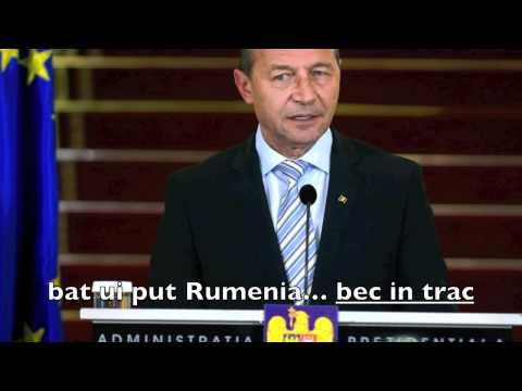 Traian Basescu ciuruieste si limba engleza!