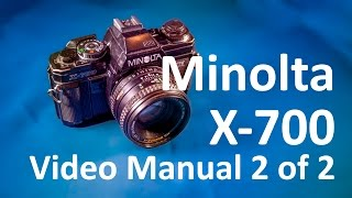Minolta X-700 Video Manual 2 of 2