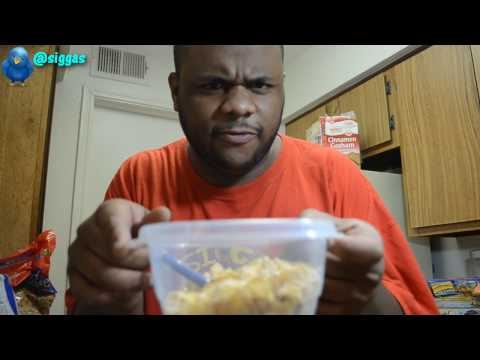 black man teaches how to eat cereal  @siggas