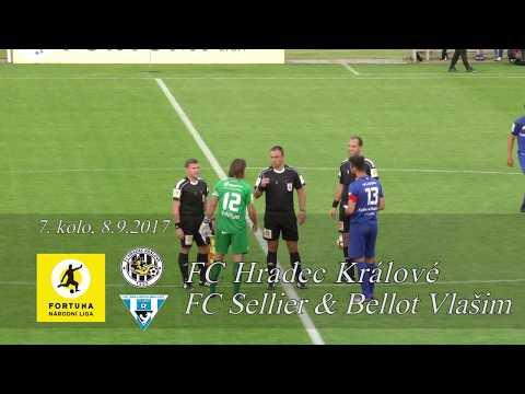 Sestřih utkání FC Hradec Králové - FC Sellier  Bellot Vlašim 2:1