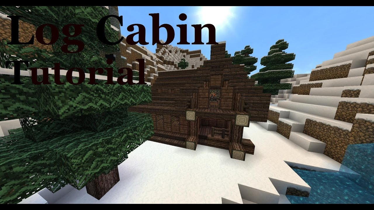 Amazing photo of Log Cabin Tutorial Minecraft   with #0362C8 color and 1920x1018 pixels