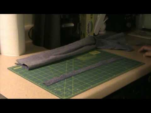 How to make warp strips for your peg loom.
