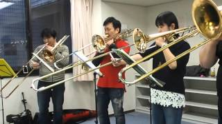 """""""Tiger Rag(arr. by Jack Gale)"""" played by Trombone Quartet WHY?"""