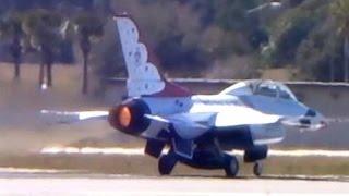 F-16 Full Afterburner Takeoff & UNRESTRICTED Climb (USAF Thunderbirds)