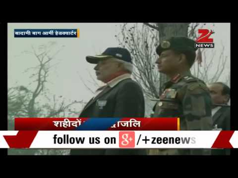 Kashmir: PM Modi visits army cantonment to pay tributes to martyrs
