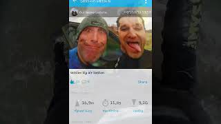 Kitesurf Big air 17m & 11sec in 40 knots