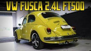 VW Fusca 1972 com motor 2.4L a ar com preparação aspirada e injeção FT500