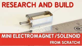 How to make a Solenoid with commercial quality from scratch! Mini size!
