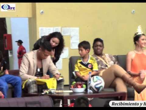 01 Fredy Guarín, se reunió en Tunja con niños de Escuelas de Fútbol.