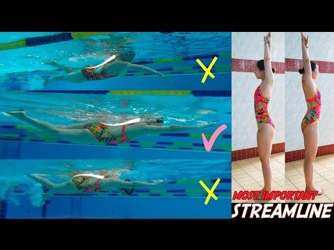 이현진 수영/ freestyle swimming head position / 수영할때 머리위치 확인하기 / improve swimming technique